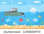 save the ocean concept. color... | Shutterstock .eps vector #1240830973
