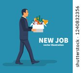 new job concept. box with... | Shutterstock .eps vector #1240832356
