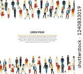 large group of people in the... | Shutterstock .eps vector #1240833019