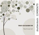tree background  vector | Shutterstock .eps vector #124083670