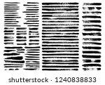 grunge paint stain brush stroke ...   Shutterstock .eps vector #1240838833