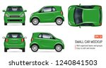 compact green car vector mockup ... | Shutterstock .eps vector #1240841503