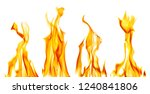 yellow flame isolated on white... | Shutterstock . vector #1240841806