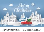 merry christmas and happy new... | Shutterstock .eps vector #1240843360