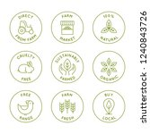 vector set of line icons and... | Shutterstock .eps vector #1240843726