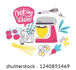 banner template with cookware... | Shutterstock .eps vector #1240851469