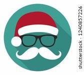 vector christmas icon santa...   Shutterstock .eps vector #1240857226