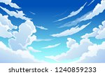 blue sky with white clouds... | Shutterstock .eps vector #1240859233