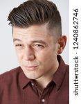 man with poor eyesight...   Shutterstock . vector #1240862746