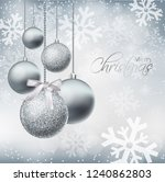 merry christmas card with... | Shutterstock .eps vector #1240862803