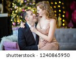 happy christmas lovers | Shutterstock . vector #1240865950