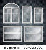 set of window frames showcase...   Shutterstock .eps vector #1240865980