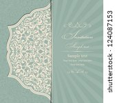 wedding invitation cards... | Shutterstock .eps vector #124087153