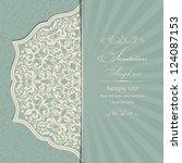 wedding invitation cards... | Shutterstock .eps vector #124087153