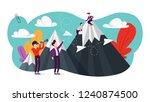 achievement and success concept....   Shutterstock .eps vector #1240874500