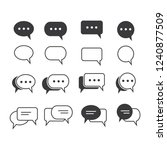 bubble chat icon vector   Shutterstock .eps vector #1240877509