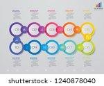 10 steps timeline infographic... | Shutterstock .eps vector #1240878040