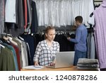 couple running on line fashion... | Shutterstock . vector #1240878286