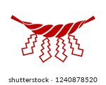 a sacred festoon sacred rope   Shutterstock .eps vector #1240878520