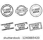 cyber week stamps | Shutterstock .eps vector #1240885420