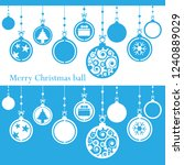merry christmas ball cut from... | Shutterstock .eps vector #1240889029