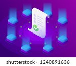 blockchain  smart contract... | Shutterstock .eps vector #1240891636