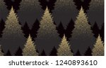 winter seamless pattern with... | Shutterstock .eps vector #1240893610