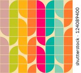 retro style abstract seamless... | Shutterstock .eps vector #124089400