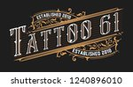 tattoo logo template. old... | Shutterstock .eps vector #1240896010