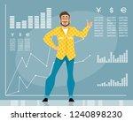 vector illustration of a man... | Shutterstock .eps vector #1240898230