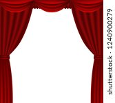 red theater curtains  | Shutterstock . vector #1240900279