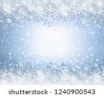 snowflakes and stars descending ... | Shutterstock . vector #1240900543