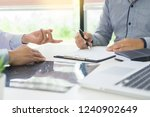 doctor giving a consultation... | Shutterstock . vector #1240902649