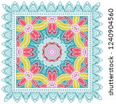 decorative colorful ornament on ... | Shutterstock .eps vector #1240904560