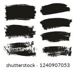 calligraphy paint brush... | Shutterstock .eps vector #1240907053