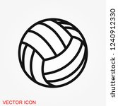 sport ball icon. flat vector... | Shutterstock .eps vector #1240912330