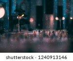 miniature people walking on... | Shutterstock . vector #1240913146