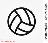 sport ball icon. flat vector... | Shutterstock .eps vector #1240915336