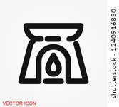 aromatherapy icon  accessory... | Shutterstock .eps vector #1240916830