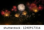 new year celebration colorful... | Shutterstock . vector #1240917316