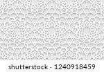 vector seamless oriental... | Shutterstock .eps vector #1240918459