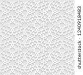 vector seamless oriental... | Shutterstock .eps vector #1240918483