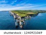 old harry rocks  jurassic coast ... | Shutterstock . vector #1240921069