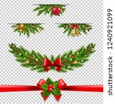 christmas garland big... | Shutterstock .eps vector #1240921099