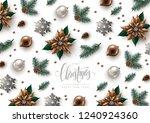 christmas decorative background ... | Shutterstock .eps vector #1240924360