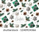 christmas decorative background ... | Shutterstock .eps vector #1240924366
