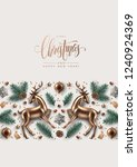 christmas decorative border... | Shutterstock .eps vector #1240924369