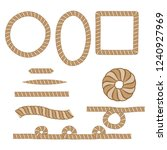 nautical rope. round and square ... | Shutterstock .eps vector #1240927969