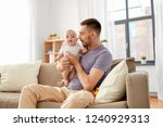 family  parenthood and people... | Shutterstock . vector #1240929313