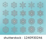 snowflakes collection. vector... | Shutterstock .eps vector #1240930246